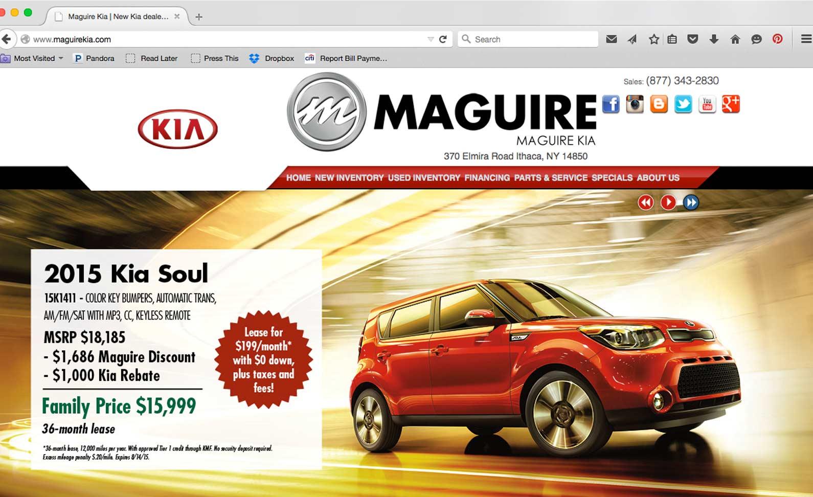 Maguire Dealership Banner Ads Rose Greenstein Graphic Design